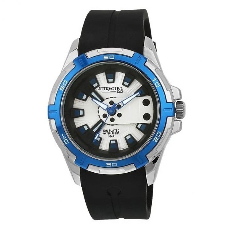 Q&Q DA54J321Y Analog Wrist Watch for Men-White
