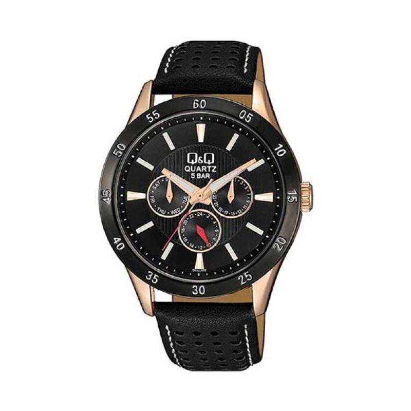 Q&Q CE02J532Y Black Chronograph Wrist Watch for Men