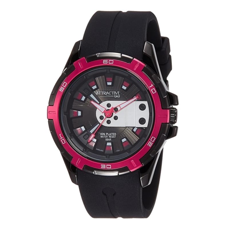 Q&Q DA54J502Y Analog Wrist Watch for Men-Black