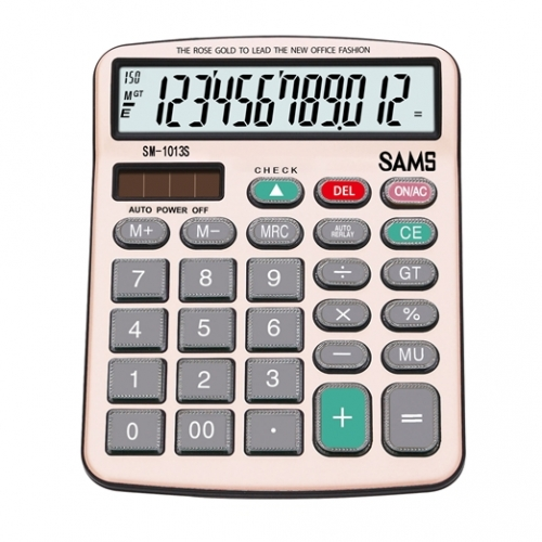 SAMS SM 1013S-RG Desktop or Office Calculator