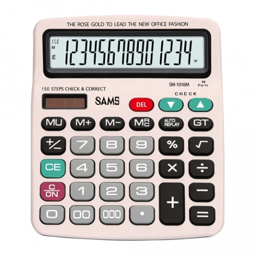 SAMS SM 1016M-RG Desktop or Office Calculator