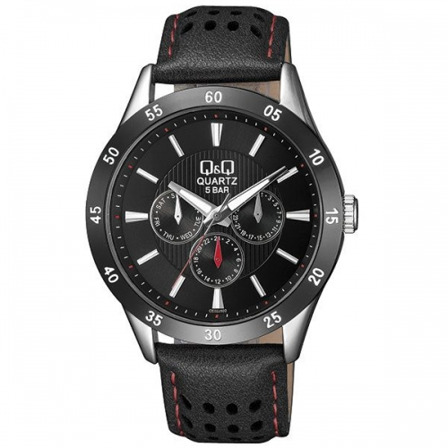 Q&Q CE02J512Y Black Chronograph Wrist Watch for Men