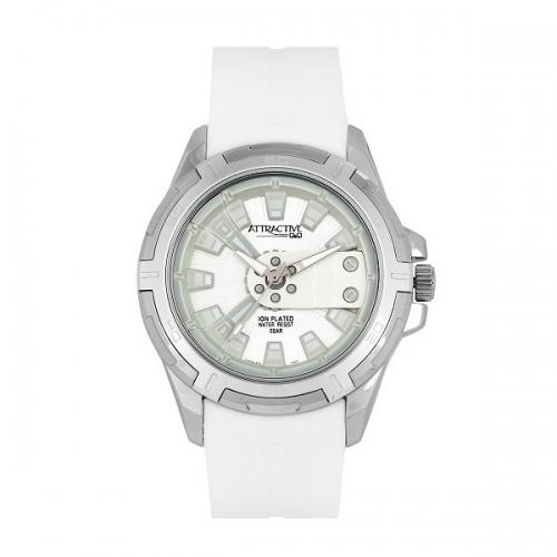 Q&Q DA54J311Y Analog Wrist Watch for Men-White