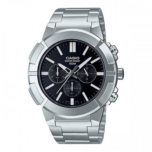 Casio Chronograph Watch For Men MTP E500D-1AVDF
