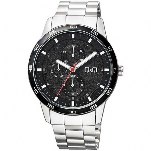 Q&Q AA38J202Y Silver Chronograph Wrist Watch for Men
